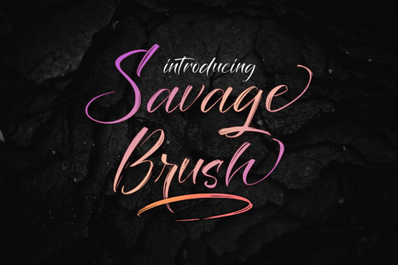 Print on Demand: Savage Brush Script & Handwritten Font By Juncreative