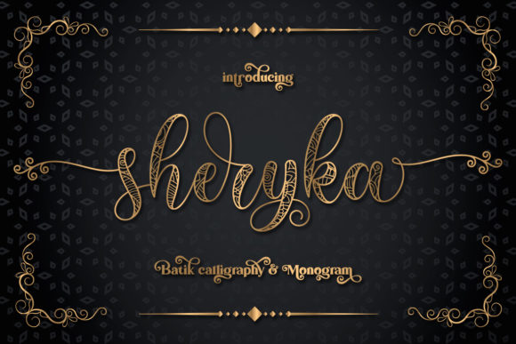 Print on Demand: Sherika Display Font By Almeera Studio