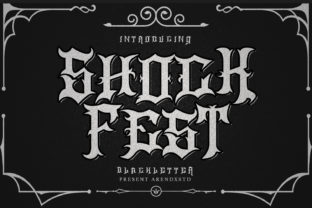 Print on Demand: Shock Fest Blackletter Font By Arendxstudio