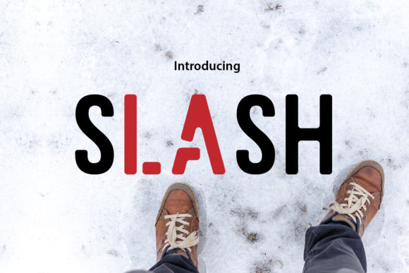 Print on Demand: Slash Display Font By da_only_aan