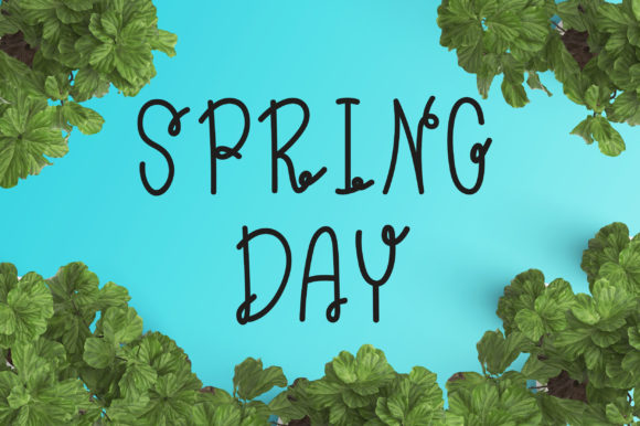 Print on Demand: Spring Day Display Font By PearlyDaisy