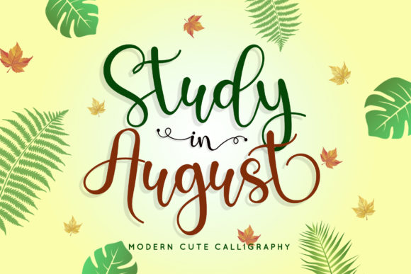 Print on Demand: Study in August Script & Handwritten Font By airotype