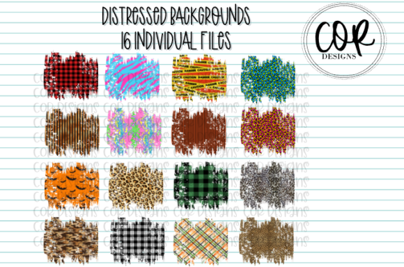 Print on Demand: Sublimation Distressed Background Bundle Graphic Crafts By designscor