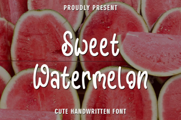 Print on Demand: Sweet Watermelon Script & Handwritten Font By rangkaiaksara