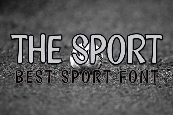 Print on Demand: The Sport Display Font By FL Space