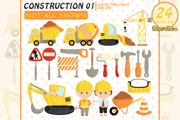 Under Construction Clipart, Truck Design Graphic Illustrations By clipartfables