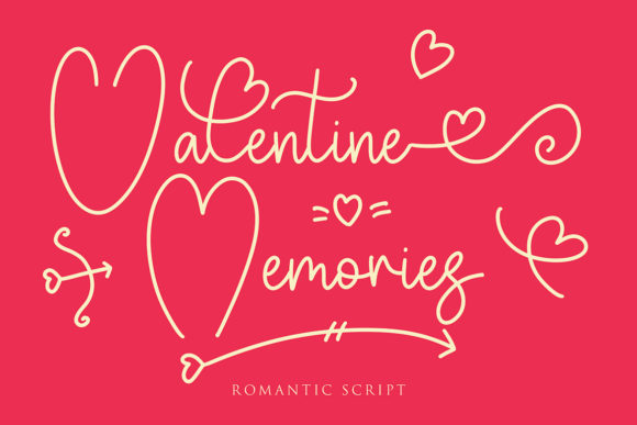 Print on Demand: Valentine Memories Manuscrita Fuente Por formatikastd