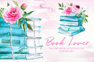 Watercolor Book Lover Designs Graphic Illustrations By artcreationsdesign