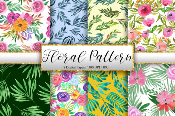 Watercolor Floral Pattern Background Graphic Patterns By PinkPearly