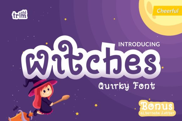 Print on Demand: Witches Display Font By Trim Studio