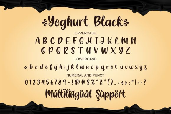 Yoghurt Black Font Popular Design