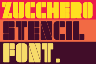 Print on Demand: Zucchero Stencil Display Font By deedeetype