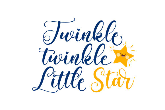 Twinkle, Twinkle, Little Star Kids Craft Cut File By Creative Fabrica Crafts