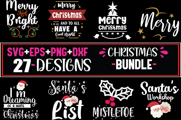 27 Christmas Quotes Bundle Graphic By Svg In Design Creative Fabrica