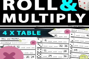 4 Times Table Multiplication Dice Game Graphic 2nd grade By Saving The Teachers 2