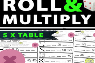 5 Times Table Multiplication Dice Game Graphic 2nd grade By Saving The Teachers 1