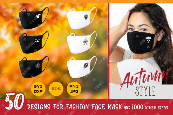 50 Autumn Designs for Face Mask  Graphic Crafts By Natariis Studio
