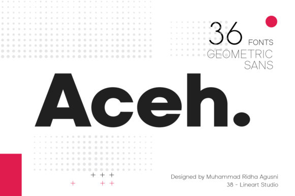 Print on Demand: Aceh Sans Serif Font By 38.lineart