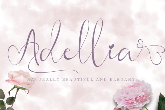 Print on Demand: Adellia Script & Handwritten Font By yogaletter6