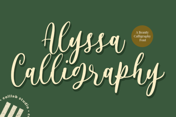 Print on Demand: Alyssa Calligraphy Script & Handwritten Font By colllabstudio