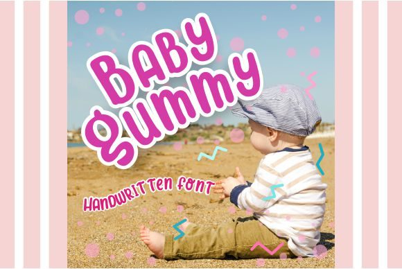 Print on Demand: Baby Gummy Display Font By LetterSpirit Studio