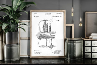 Print on Demand: Beer Apparatus 1886 Patent Art Poster Graphic Illustrations By Antique Pixls