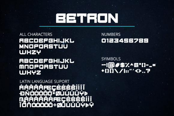 Print on Demand: Betron Display Font By Din Studio - Image 2