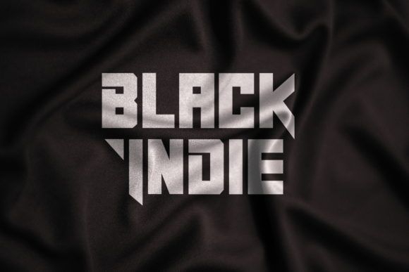 Print on Demand: Black Indie Display Fuente Por Din Studio