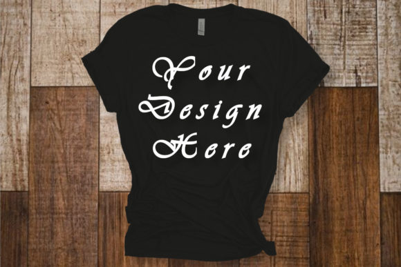 Black T-shirt Mockup, Bella Canvas Shirt Graphic Product Mockups By Mockup Shop