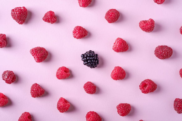 Print on Demand: Blackberry and Raspberry Berries Pattern Graphic Food & Drinks By frostroomhead