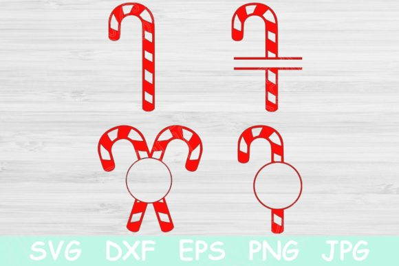 Candy Cane Christmas Monogram Graphic Crafts By TiffsCraftyCreations