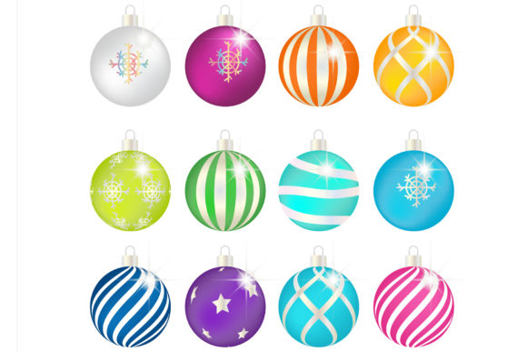 Christmas Ball Vector Graphic Illustrations By griyolabs