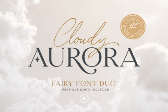 Print on Demand: Cloudy Aurora Serif Font By saridezra