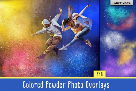 Print on Demand: Colored Powder Photo Overlays Graphic Layer Styles By MixPixBox