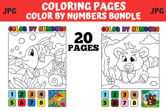 Print on Demand: Coloring Pages Bundle  By MyBeautifulFiles