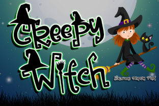 Print on Demand: Creepy Witch Display Font By thomasaradea