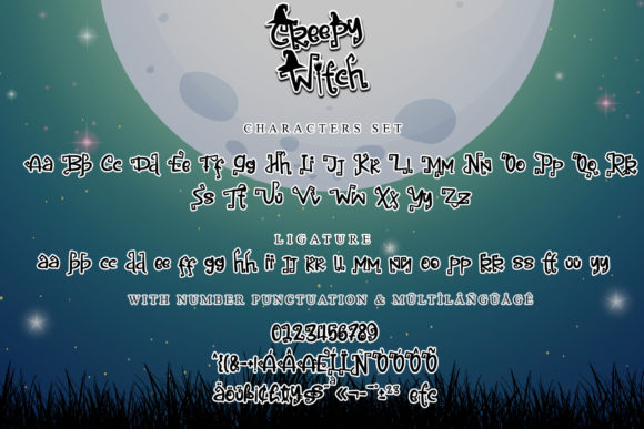 Creepy Witch Font Image