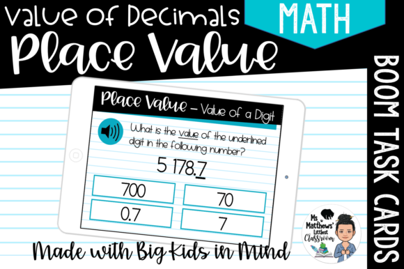 Decimal Place Value - Value of a Digit Graphic Teaching Materials By Ms. Matthews Littlest Classroom