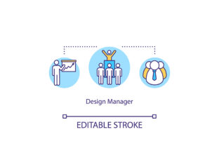 Print on Demand: Design Manager, Team Leader Concept Icon Graphic Icons By bsd studio