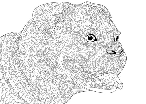 Print on Demand: Dog Coloring Book Page for Kids Graphic Coloring Pages & Books Kids By ajubayer555