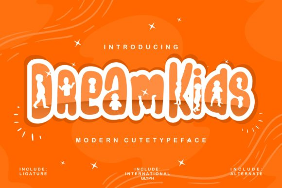 Print on Demand: Dream Kids Display Font By Vunira