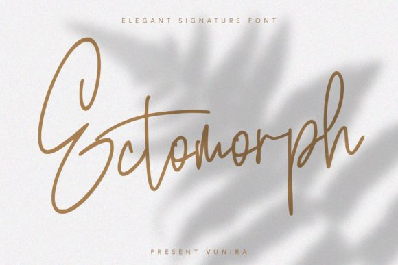Print on Demand: Ectomorph Script & Handwritten Font By Vunira