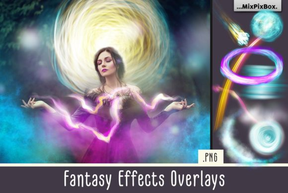Print on Demand: Fantasy Effects Overlays Graphic Layer Styles By MixPixBox