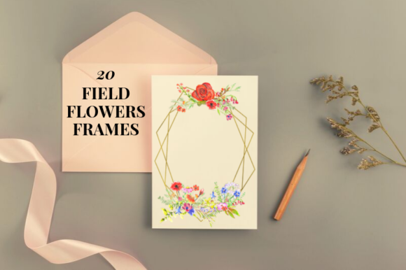 Field Flowers Watercolor Flowers Clipart Graphic Illustrations By Aneta Design