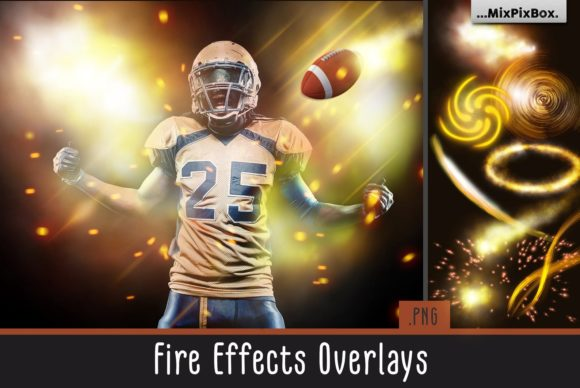 Print on Demand: Fire Effect Overlays Graphic Layer Styles By MixPixBox