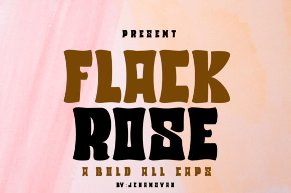Print on Demand: Flack Rose Display Font By jehansyah251