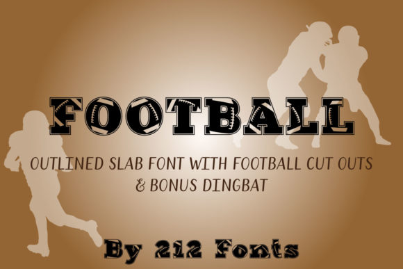 Print on Demand: Football Display Font By 212 Fonts