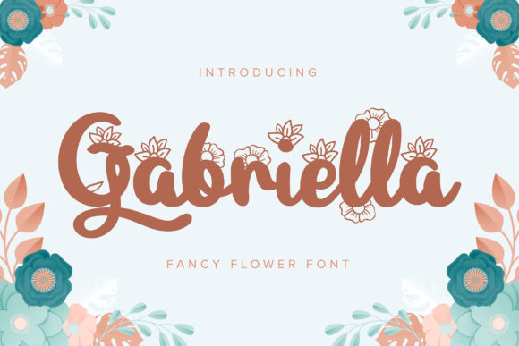 Print on Demand: Gabriella Script & Handwritten Font By Vunira