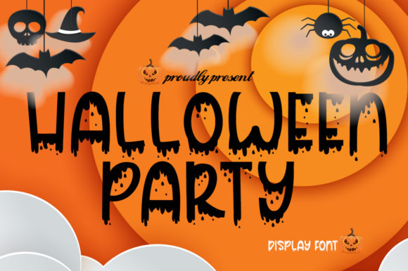 Print on Demand: Halloween Party Display Font By Fillo Graphic