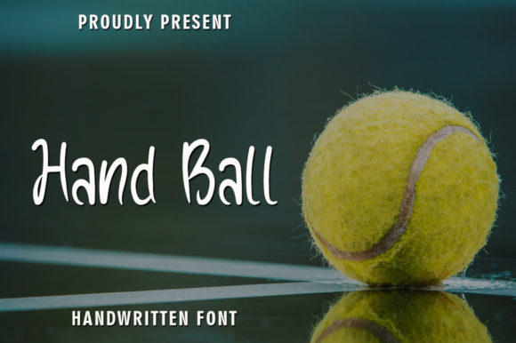 Print on Demand: Hand Ball Script & Handwritten Font By rangkaiaksara